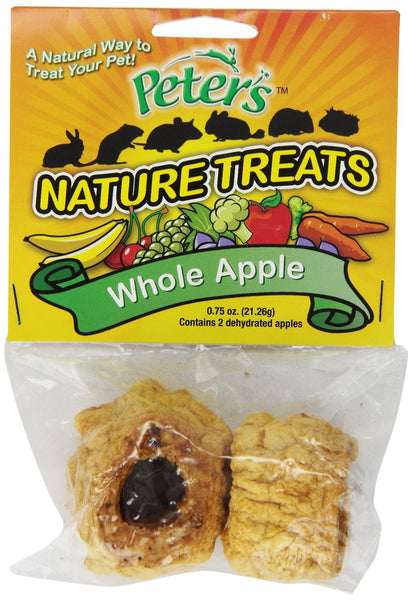 Peter's Whole Apple Small Animal Nature Treats, .75-oz bag