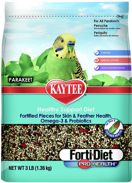 Kaytee Forti-Diet Pro Health Parakeet Bird Food