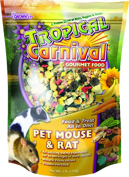 Brown's Tropical Carnival Mouse & Rat Food, 2-lb bag