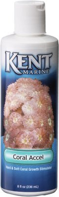 Kent Marine Coral Accel Hard & Soft Growth Stimulator, 8-oz bottle