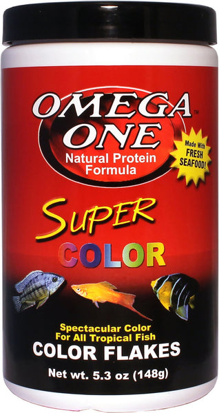 Omega One Super Color Flakes Tropical Fish Food