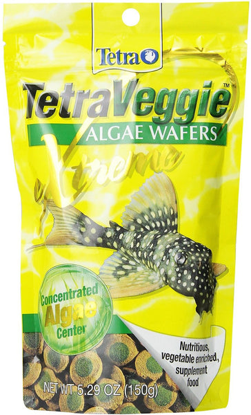 Tetra Veggie Algae Wafers eXtreme Concentrated Sinking Fish Food, 5.3-oz bag