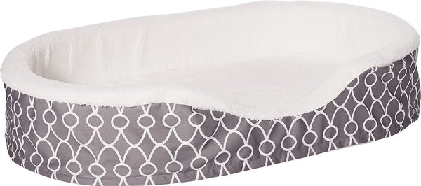 MidWest Quiet Time E' Sensuals Teflon Geometric Orthopedic Nesting Pet Bed, Gray
