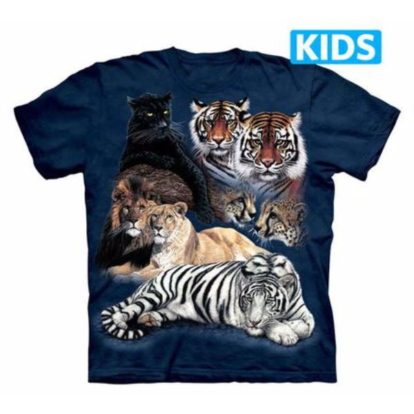 Big Cat Collage Kids T-Shirt