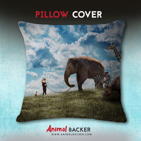 Peaceful Elephant Pillow Cover