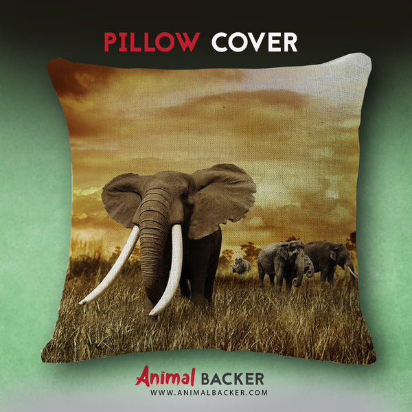 Elephant Trunk Pillow Cover