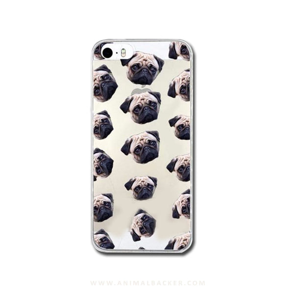 Cute Pug Face Case for iPhone 5 / 5S / SE