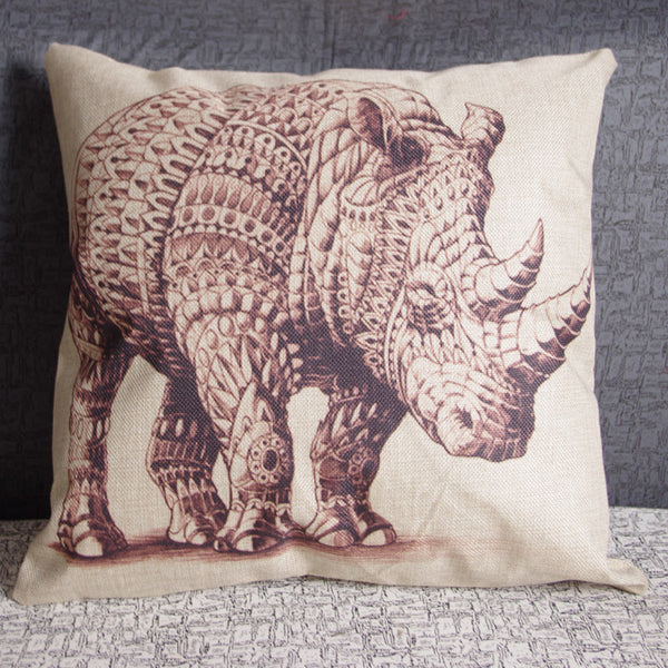 *Rhino Pillow Cover