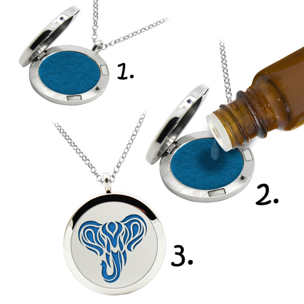 ELEPHANT ESSENTIAL OIL DIFFUSER NECKLACE (ELEPHANT)