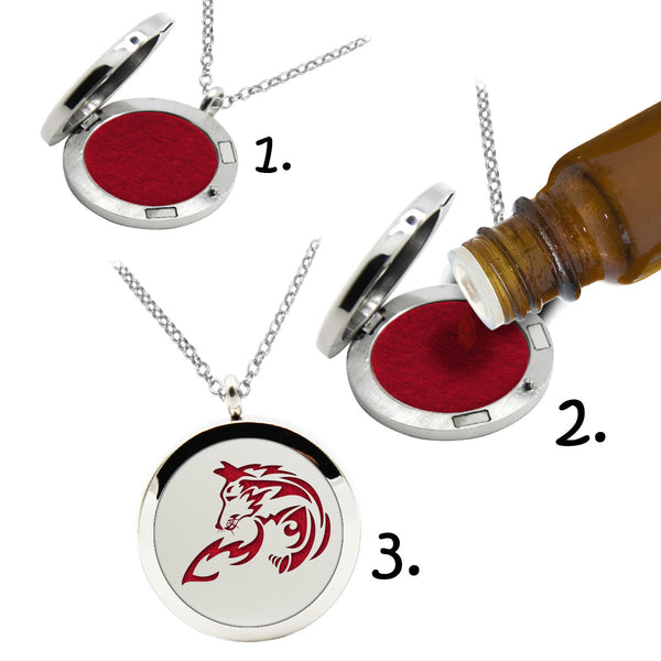 AROMATHERAPHY OIL DIFFUSER NECKLACE (FOX)