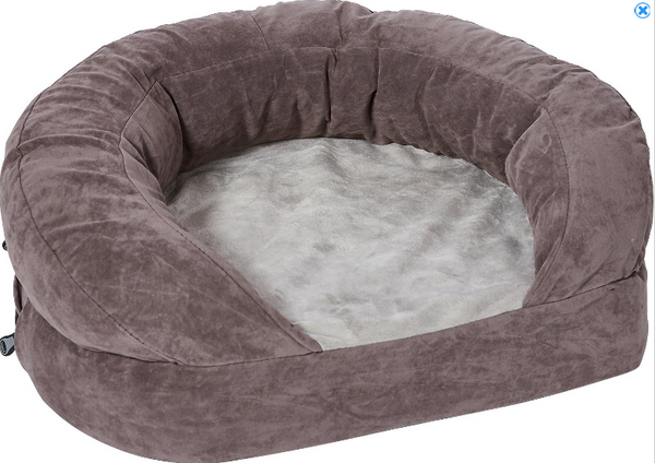 K&H Pet Products Ortho Bolster Sleeper Pet Bed, Gray