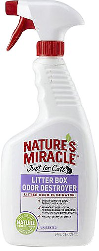 Nature's Miracle JFC Litter Box Odor Destroyer Spray, 24-oz spray