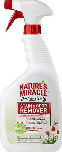 Nature's Miracle JFC Flowering Meadow Scented Cat Stain & Odor Remover, 32-oz bottle