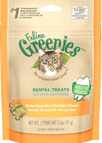Greenies Feline Oven Roasted Chicken Flavor Dental Cat Treats