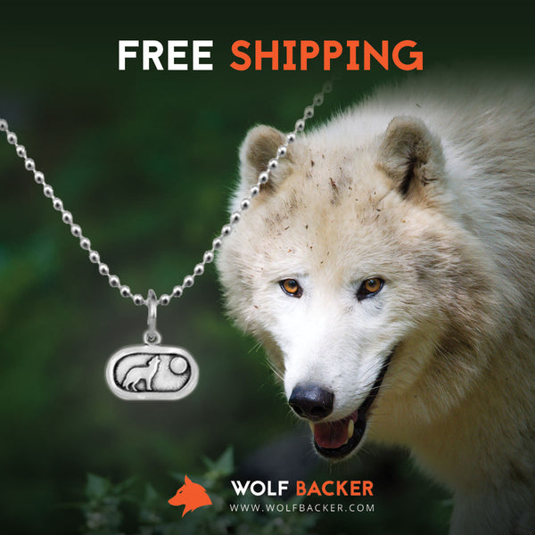 Silver Plated Howling Wolf and Moon Necklace