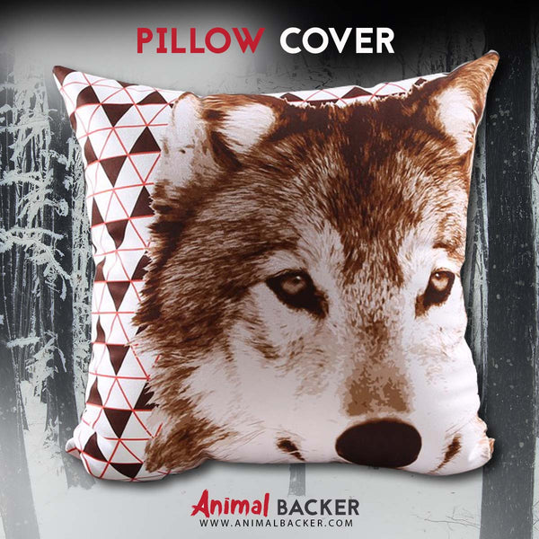 Decorative Wolf Pillow Cover