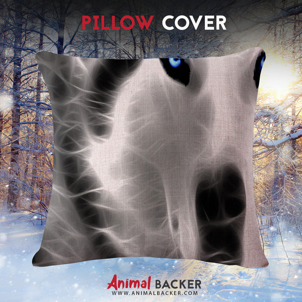 3D Wolf Pillow Cover