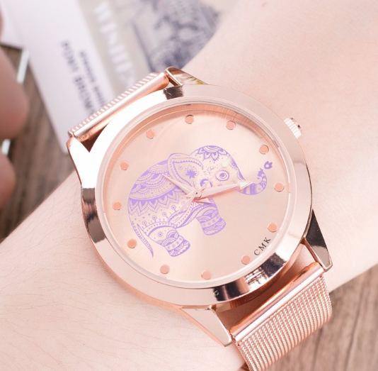 Elephant  Fashion Steel Mesh Watches