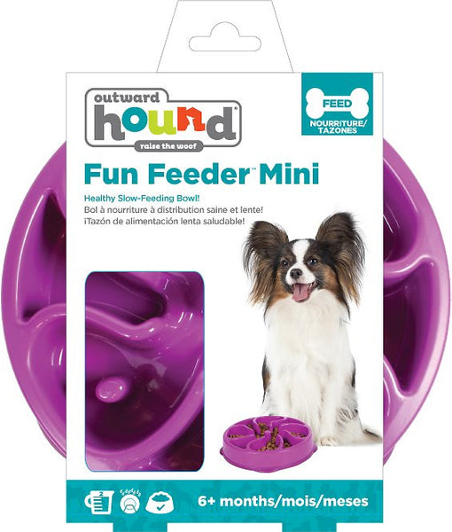 Outward Hound Fun Feeder Interactive Dog Bowl, Purple