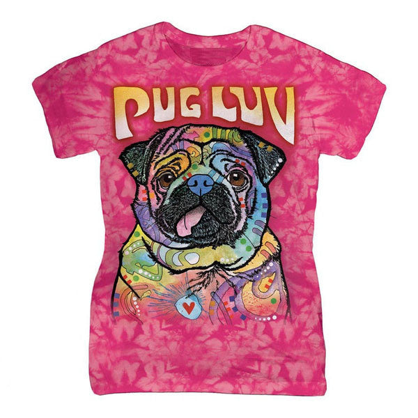 Pug Luv Classic Ladies Tee - $25.95 ONLY FOR 3 DAYS!