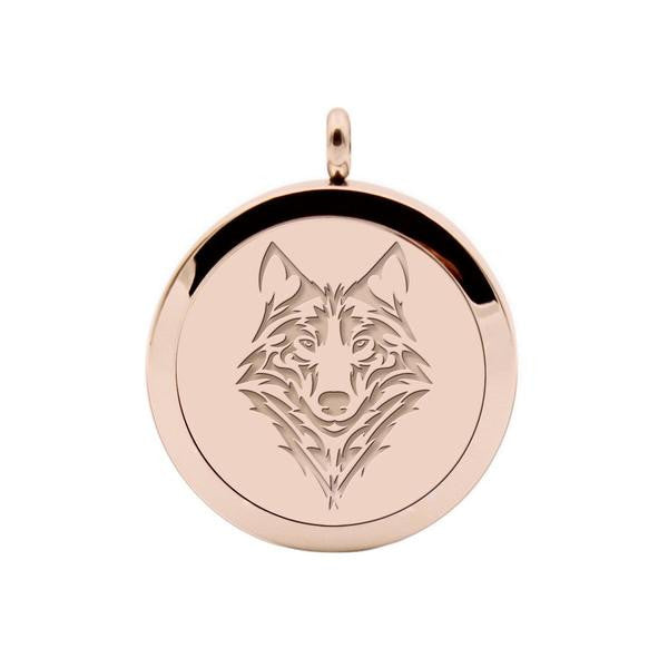 AROMATHERAPHY OIL DIFFUSER NECKLACE (WOLF)