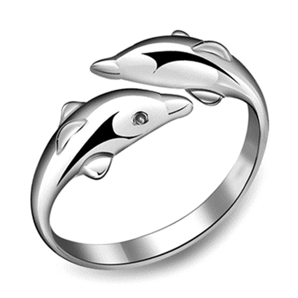 Adjustable Dolphin Ring