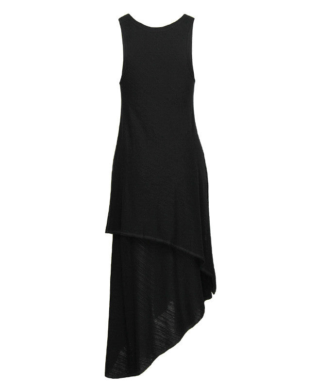 FINE Daze Two Layer Dress in Black
