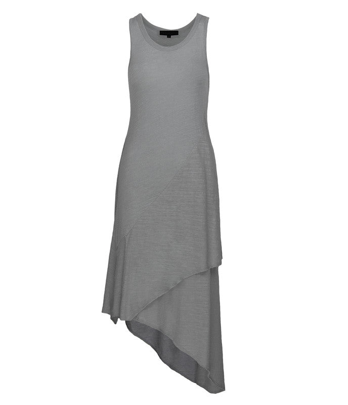 FINE Daze Two Layer Dress in Grey