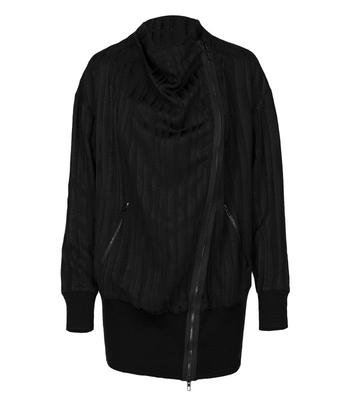 Superfine Flight Viscose Jacket in Black
