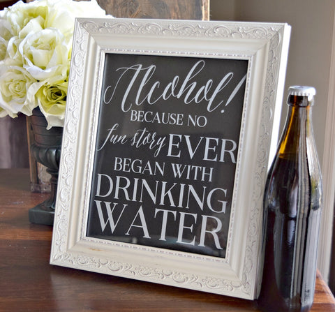 alcohol wedding bar sign