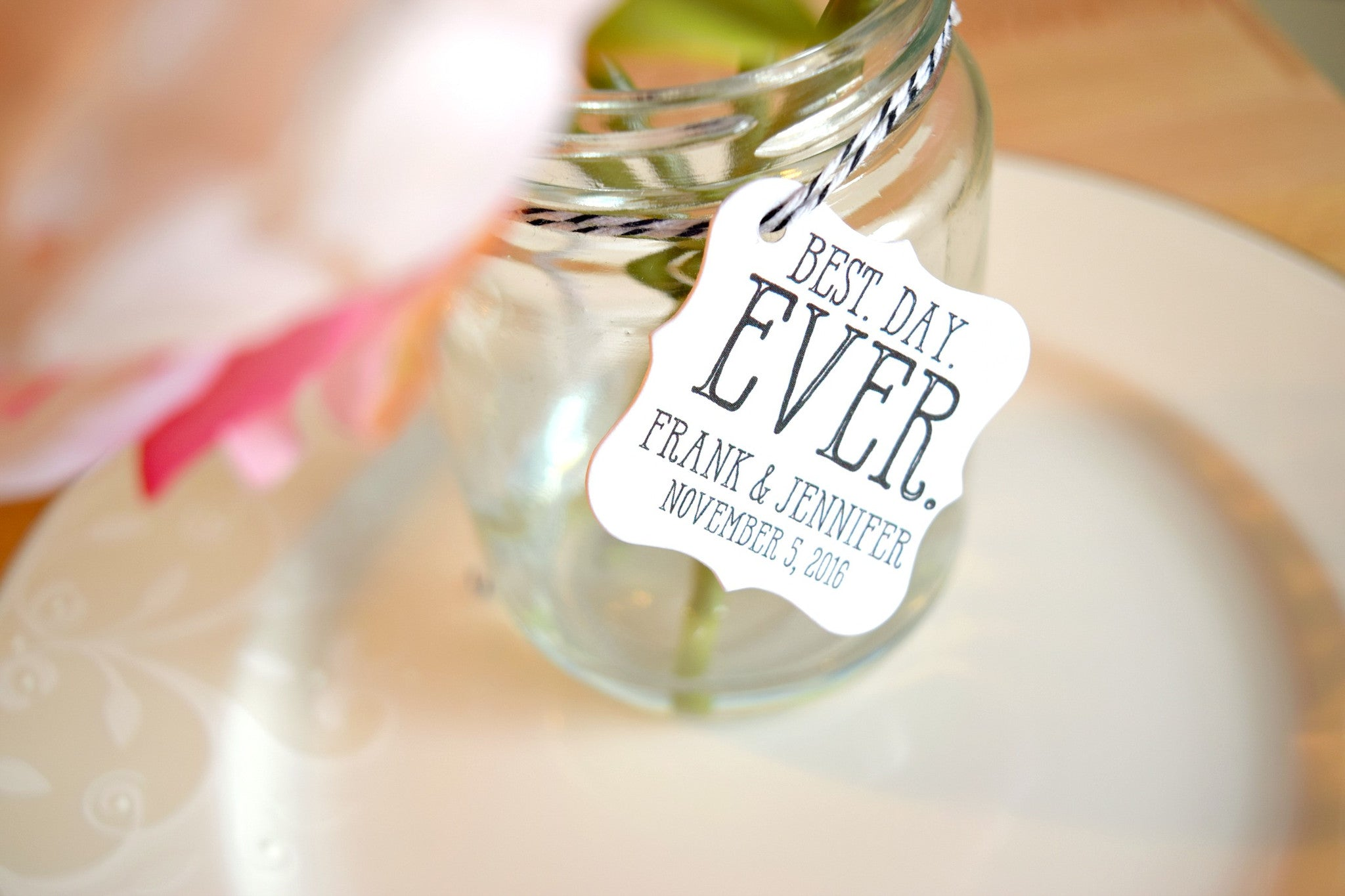 SET OF 20 best. day. ever. wedding favor tags – Behind the Reams