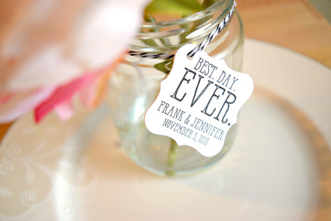 SET OF 20 best. day. ever. wedding favor tags