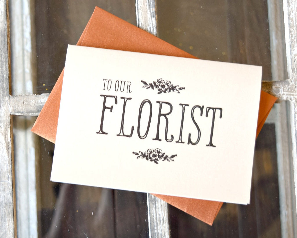 to our florist thank you card