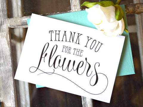 thank you for the flowers florist thank you card