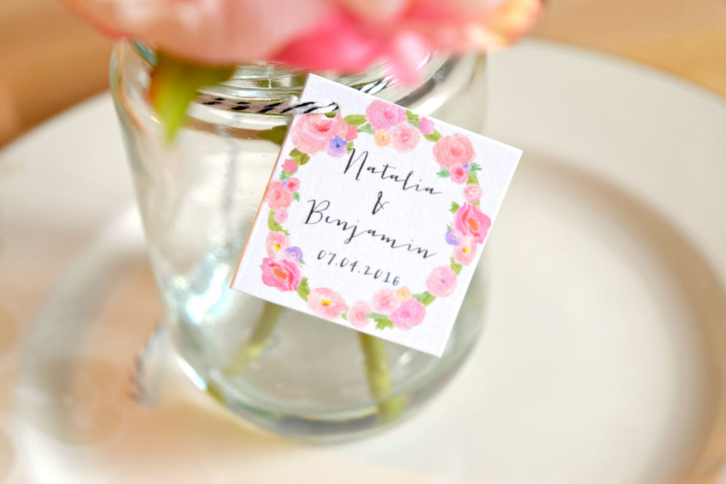 Set Of 15 Personalized Wedding Favor Tags Behind The Reams