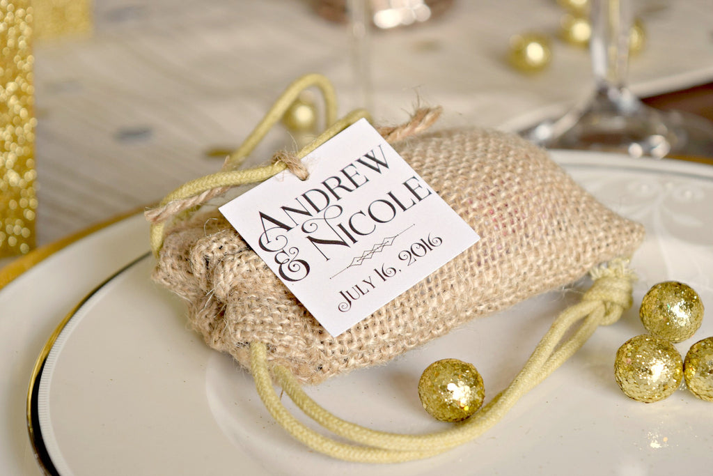 SET OF 15 personalized wedding favor tags