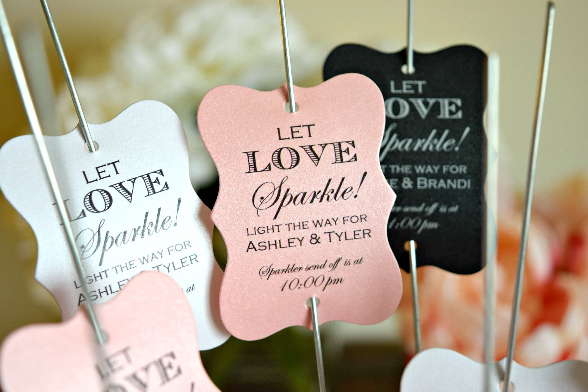 SET OF 15 let love sparkle wedding sparkler tags – Behind the Reams