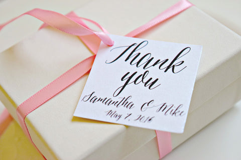 SET OF 15 thank you wedding favor tags
