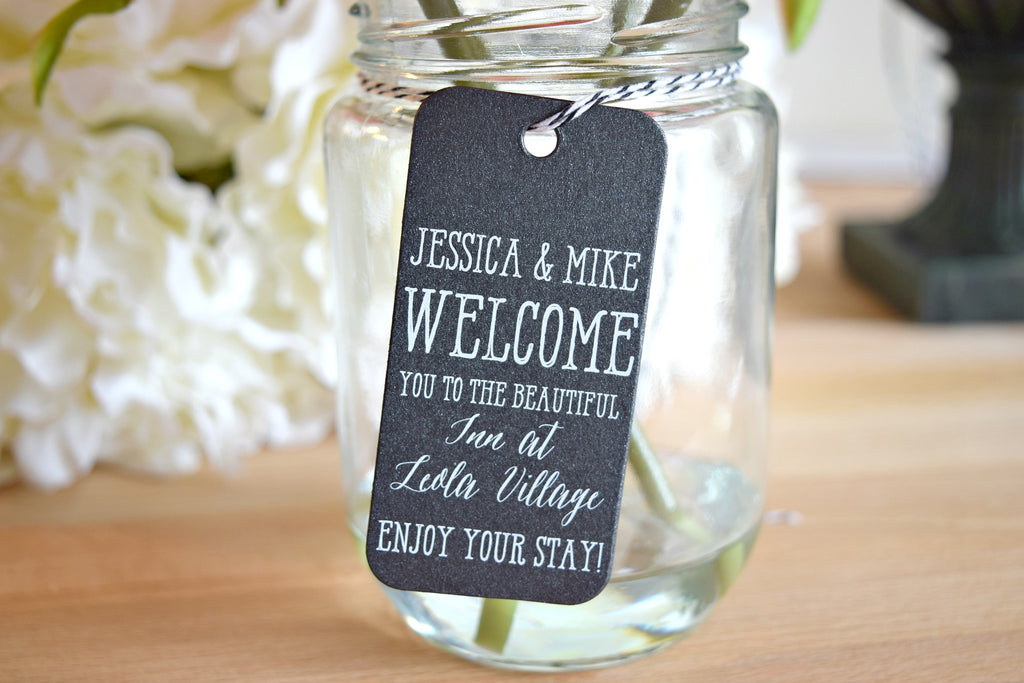 SET OF 20  wedding welcome bag tags