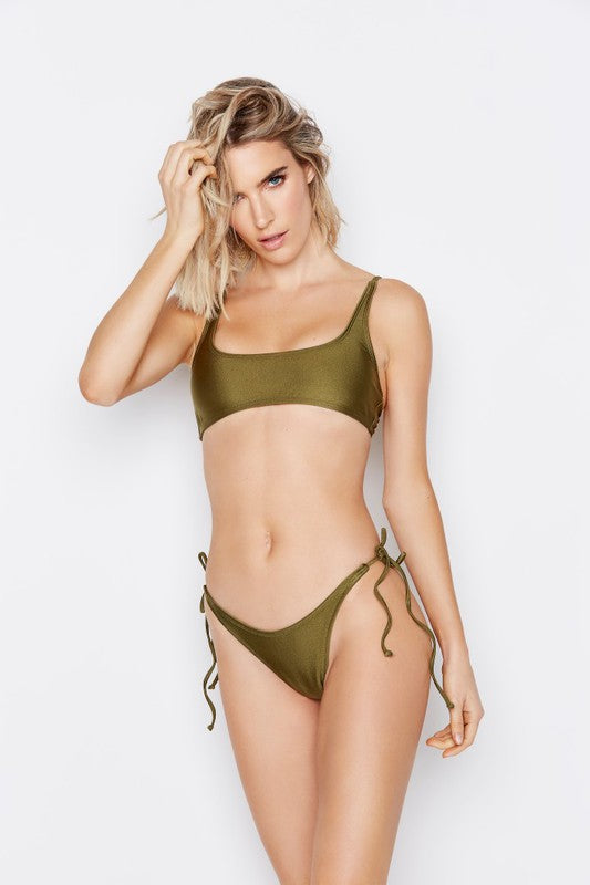 Allure Bikini Top in Moss
