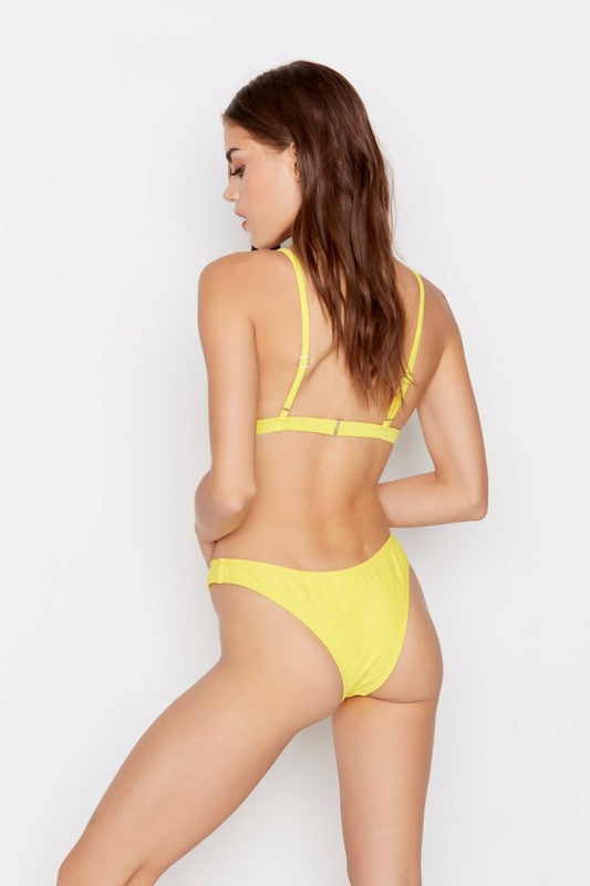 Nostalgia Bikini Bottoms in Lemon