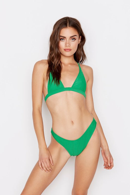 Nostalgia Bikini Bottoms in Emerald