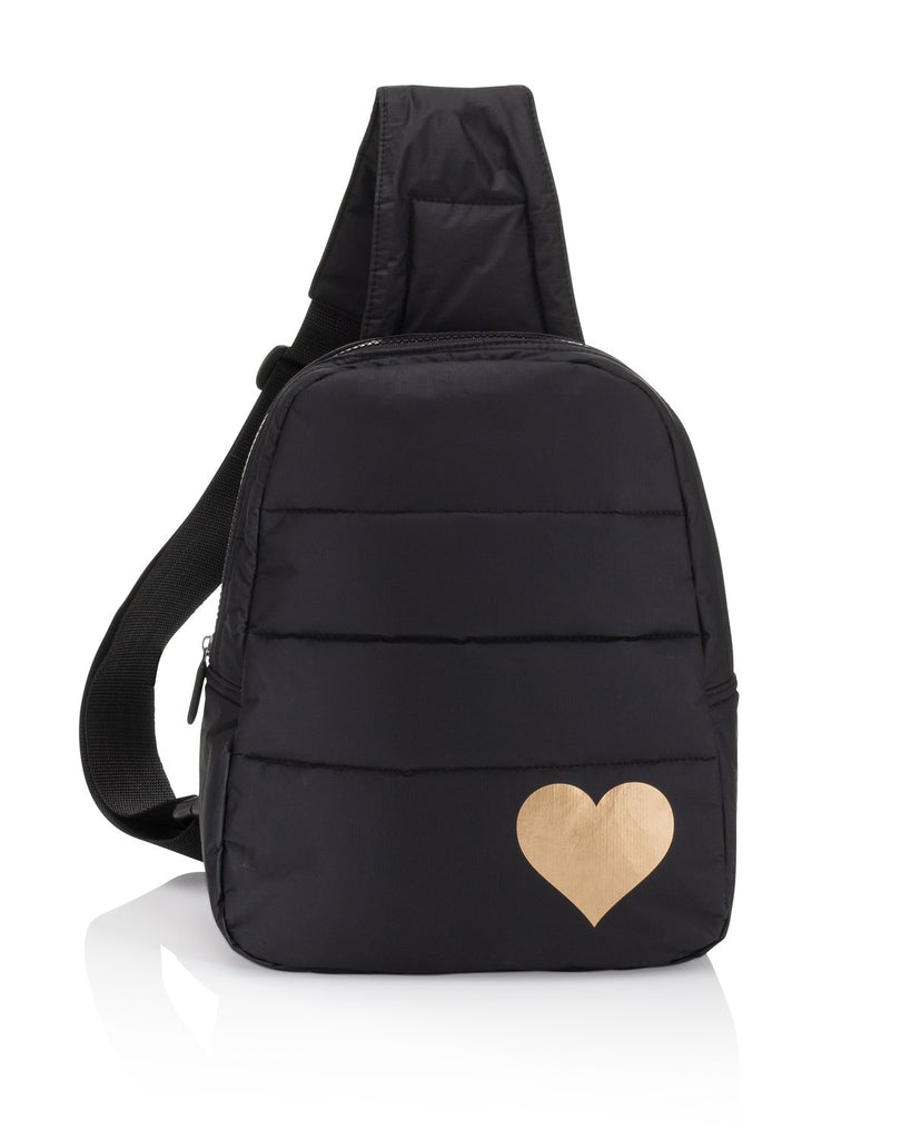 Crossbody Backpack in Black