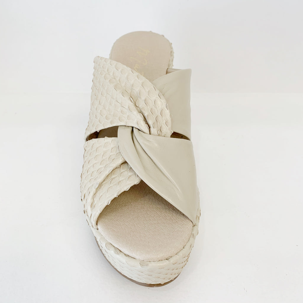 Cavalli Wedge in Ivory Snake