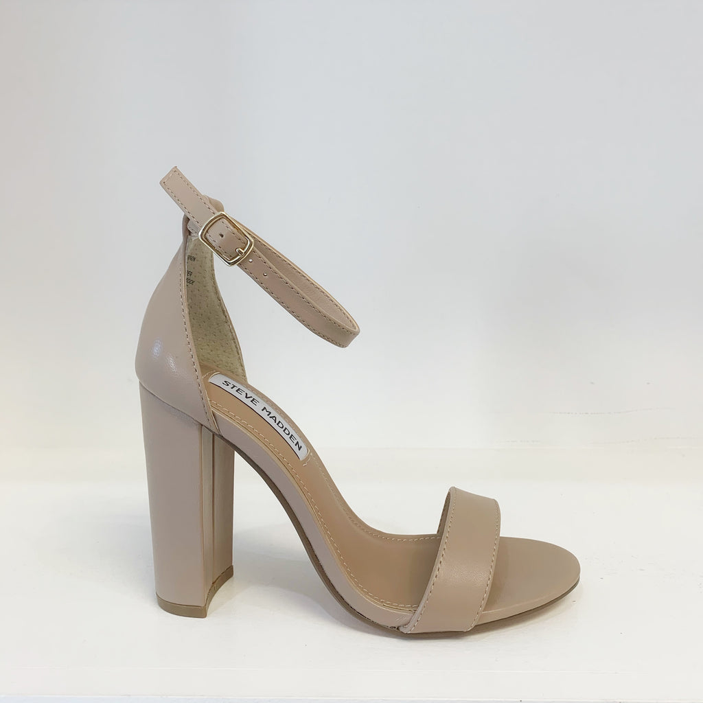 Carrson Heel in Blush Leather