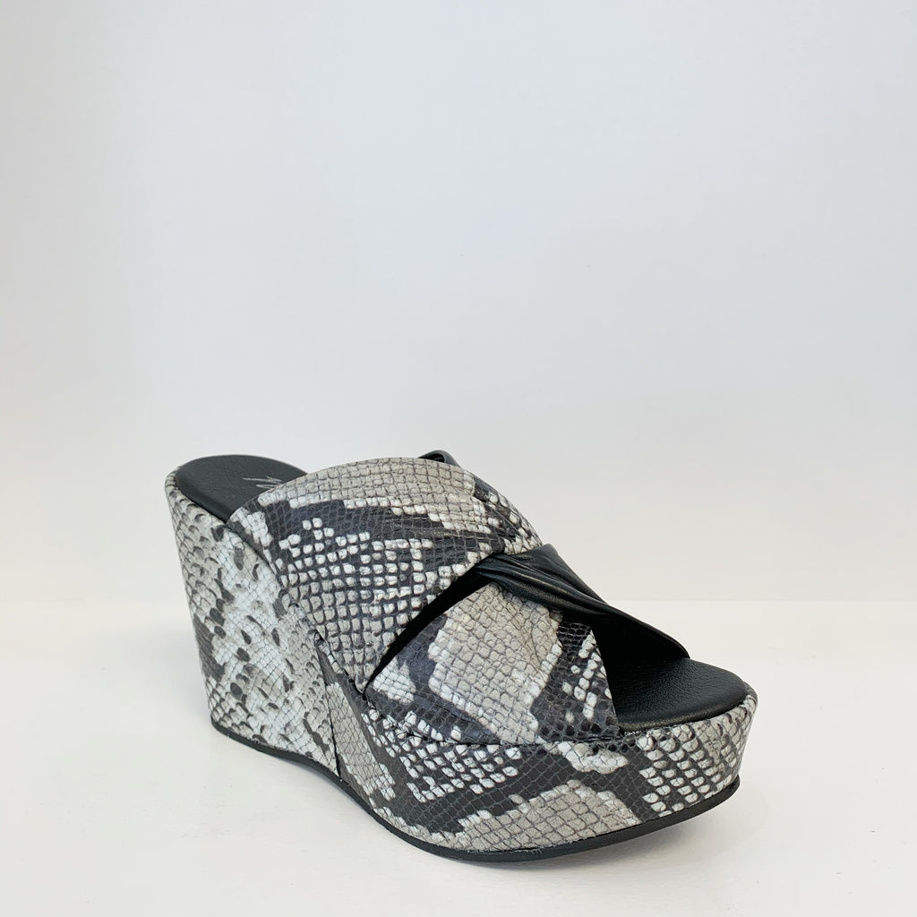 Cavalli Wedge in Black Snake