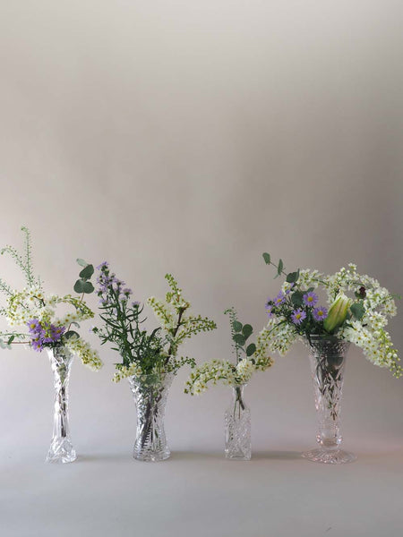 Mixed Cut Glass Vases