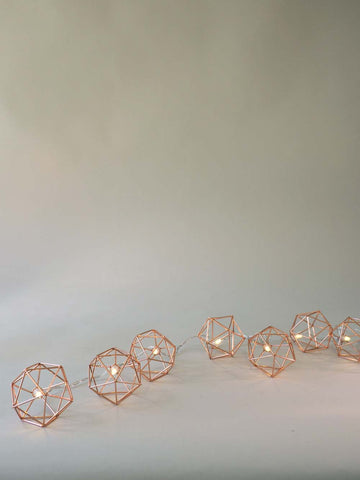 Copper Geometric Fairy Lights