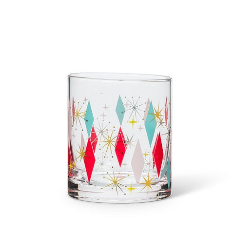 Bowlerama Deco Old Fashioned Glass