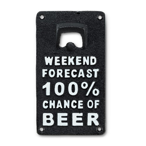 Cast Iron Beer Forecast Bottle Opener